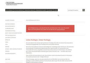 Online-Redaktion für den Fachverband Deutsch im DGV